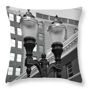 Streetlights - Lansing Michigan Throw Pillow