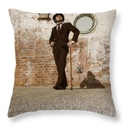 Streets Of The Old Throw Pillow