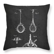 Striking Bag Patent Drawing From1891 Throw Pillow