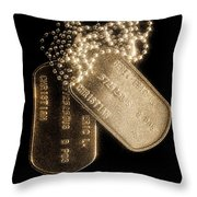 Stripes Of Commitment Throw Pillow