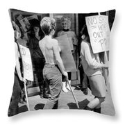 Strippers On Strike Throw Pillow
