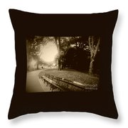 Strolling Through The Park Throw Pillow