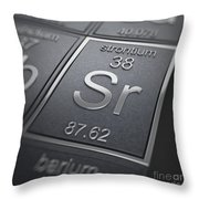 Strontium Chemical Element Throw Pillow