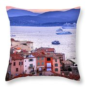 St.tropez At Sunset Throw Pillow