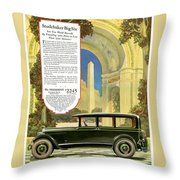 Studebaker Big Six - Vintage Car Poster Throw Pillow