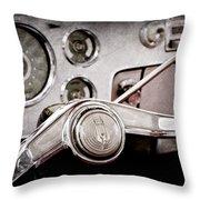Studebaker Steering Wheel Emblem Throw Pillow