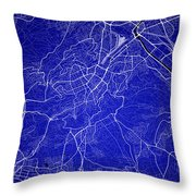 Stuttgart Street Map - Stuttgart Germany Road Map Art On Colored Throw Pillow