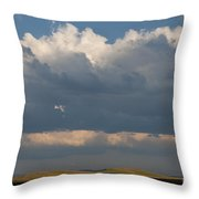 Summer Clouds Throw Pillow
