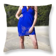 Summer Fashion Style Throw Pillow