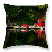 Summer Morning On Muskoka River Throw Pillow