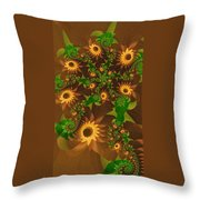 Summer's Last Sunflowers Throw Pillow