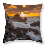 Sun Sets On Patrick's Point Throw Pillow