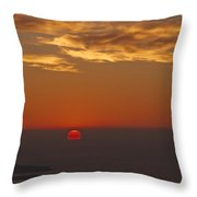 Sun Sinking Throw Pillow