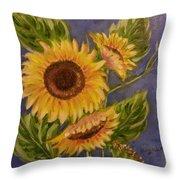 Sunflower Burst 1 Throw Pillow