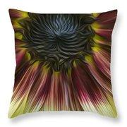 Sunflower In Oils Throw Pillow