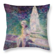 Sunlight In Central Park Throw Pillow