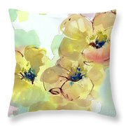 Sunlit Poppies I Throw Pillow