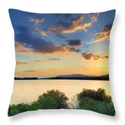 Sunrays At The Lake Throw Pillow