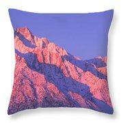 Sunrise At 14,494 Feet, Mount Whitney Throw Pillow