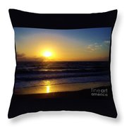 Sunrise - Florida - Beach Throw Pillow
