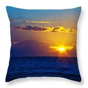 Sunrise At The Beach II Throw Pillow