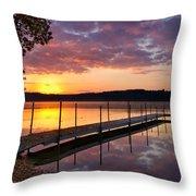 Sunrise On Keoka Lake Throw Pillow