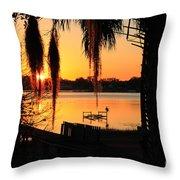 Sunrise On Lake Weir - 4 Throw Pillow