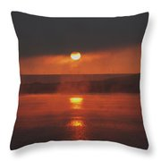 Sunrise On The Columbia River Throw Pillow
