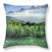 Sunrise Over Blue Ridge Mountains Scenic Overlook  Throw Pillow