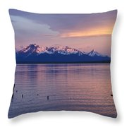 Sunrise Over Ultima Esperanza Throw Pillow