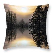 Sunrise-sundown Throw Pillow
