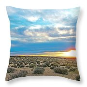 Sunset At Alstrom Point In Glen Canyon National Recreation Area-utah Throw Pillow