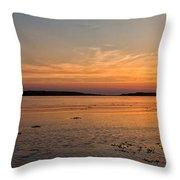 Sunset At Loch Bay Throw Pillow
