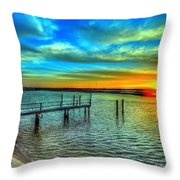 Sunset At The Cape Throw Pillow