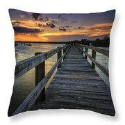 Sunset At Wildcat Cove Throw Pillow