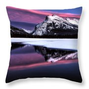 Sunset Mount Rundle Throw Pillow