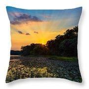 Sunset On Lake Masterman Throw Pillow