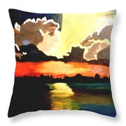 Sunset On The Island Throw Pillow