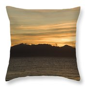 Sunset Over Arran Throw Pillow