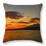 Sunset Over Mackay Reservoir Throw Pillow
