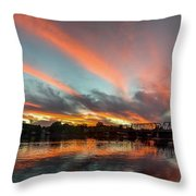Sunset Over New Hope Throw Pillow