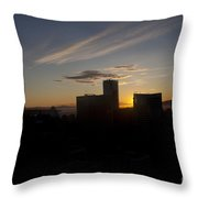 Sunset Over The Skyline Of Vancouver Throw Pillow