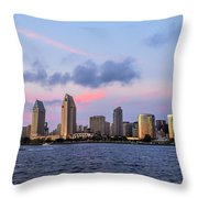 Sunset San Diego Bay Throw Pillow