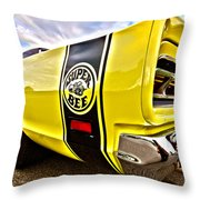Super Close Super Bee  Throw Pillow