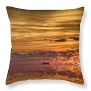 Supertanker Sunset V6 Throw Pillow