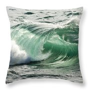Surf Zone At The Barents Sea Coast Throw Pillow