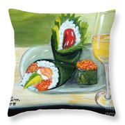 Sushi 5 Throw Pillow