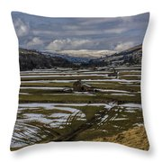 Swaledale Yorks Dales Throw Pillow