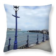 Swanage Pier Throw Pillow