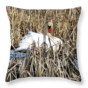Swanly Throw Pillow
